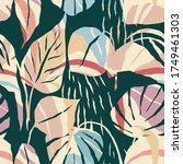 artistic seamless pattern with... | Shutterstock .eps vector #1749461303