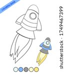 rocket takes off contour... | Shutterstock .eps vector #1749467399