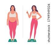 weight loss. vector... | Shutterstock .eps vector #1749549326