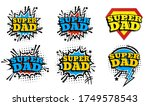 happy father day. super dad | Shutterstock .eps vector #1749578543