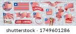 vector set of the national flag ... | Shutterstock .eps vector #1749601286