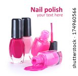 open bottles with bright nail...   Shutterstock . vector #174960566