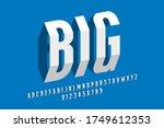 modern 3d style font  alphabet... | Shutterstock .eps vector #1749612353