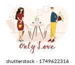 date of a happy couple in a... | Shutterstock .eps vector #1749622316