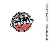 classic vintage car vector... | Shutterstock .eps vector #1749625190