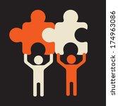 joint effort   collaboration... | Shutterstock .eps vector #174963086