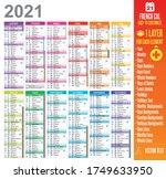 2021 French Calendar Template...