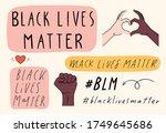 black lives matter hand drawn... | Shutterstock .eps vector #1749645686