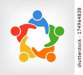 vector group of people  team... | Shutterstock .eps vector #174964838