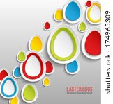 easter eggs abstract colorful... | Shutterstock .eps vector #174965309