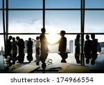 group of business people and... | Shutterstock . vector #174966554