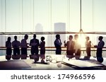 group of business people... | Shutterstock . vector #174966596