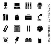 office icon set glyph style for ...