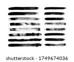 vector grungy paint brush... | Shutterstock .eps vector #1749674036