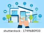 modern smart home concept.... | Shutterstock .eps vector #1749680933