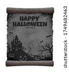 halloween silhouette vector... | Shutterstock .eps vector #1749682463