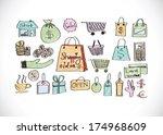 shopping icon set idea design  | Shutterstock .eps vector #174968609