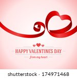 heart from ribbon valentine's... | Shutterstock .eps vector #174971468