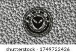alien icon inside black badge... | Shutterstock .eps vector #1749722426