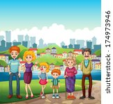 illustration of a family at the ...   Shutterstock . vector #174973946