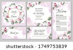vector floral template for... | Shutterstock .eps vector #1749753839