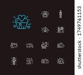 love icons set. locked heart...   Shutterstock .eps vector #1749761153