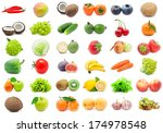 collection of various fruits... | Shutterstock . vector #174978548