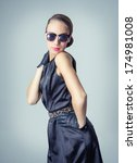 fashion portrait of beautiful... | Shutterstock . vector #174981008