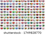 set of national flags in... | Shutterstock .eps vector #1749828770