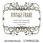delicate calligraphic black and ... | Shutterstock .eps vector #174983228