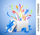 birthday gift package ... | Shutterstock . vector #174983600