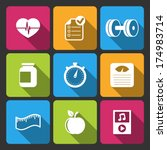 healthy lifestyle iconset for...