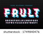 pixel vector alphabet design ... | Shutterstock .eps vector #1749840476