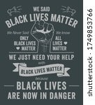 black lives matter typographic... | Shutterstock .eps vector #1749853766