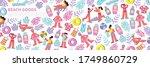 seamless pattern for header...   Shutterstock .eps vector #1749860729