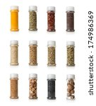 Collage Of Spices Isolated On...