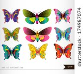 set of different multicolored... | Shutterstock .eps vector #174987074