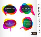 set of four colorful speech...   Shutterstock .eps vector #174987116
