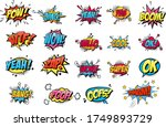 comic collection colored sound...   Shutterstock .eps vector #1749893729