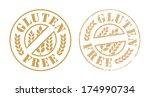 gluten free rubber stamp ink | Shutterstock .eps vector #174990734