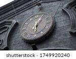 Exterior Roman Numeral Clock On ...