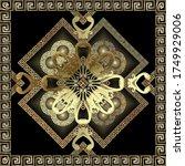textured gold 3d greek vector... | Shutterstock .eps vector #1749929006