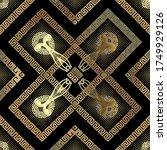 textured gold 3d greek vector... | Shutterstock .eps vector #1749929126