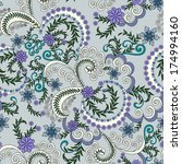 pattern with small lilac... | Shutterstock .eps vector #174994160