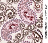 lilac brown paisley decorated... | Shutterstock .eps vector #174994169