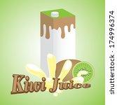 kiwi juice cartons with screw... | Shutterstock .eps vector #174996374