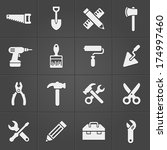 working instrument icons on... | Shutterstock .eps vector #174997460