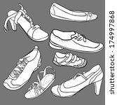 set of shoes   illustration | Shutterstock . vector #174997868