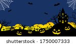halloween silhouette vector... | Shutterstock .eps vector #1750007333
