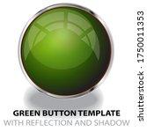green glossy web button...